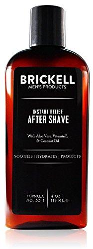 Brickell Men's Aftershave mit Sofortiger Linderung für Männer - 4 oz - Natürlich und Organisch - Ohne Duftstoffe