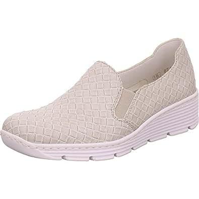 Rieker Women's 587b0 41 Loafer Flats Grey Grey: Amazon.co.uk
