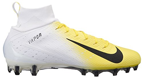 NIKE Men's Vapor Untouchable 3 Pro Football Cleats (15, White/Yellow)