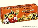 Apfelfrucht Tee Goldmännchen | GRATIS DDR Geschenkkarte | DDR Produkte| Ideal für jedes DDR Geschenkset | DDR Traditionsprodukt und Ossi Kultprodukt | DDR Artikel