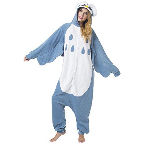 Imagen de katara 1744  kigurumi pijama disfraz de pajaro nocturno traje de dormir para adultos unisex  ideal para cosplay, carnaval o halloween  costume de búho onesie con capucha s alternativa