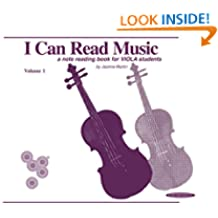 I Can Read Music, Volume 1: A note reading book for VIOLA students