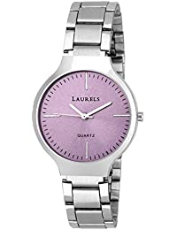Laurels Alice Purple Dial Analog Wrist Watch - For Women