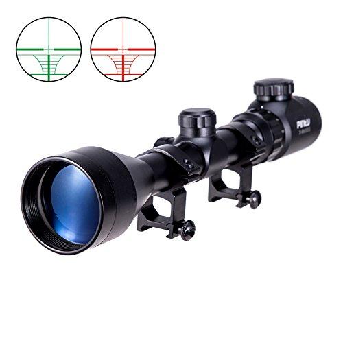 Pinty 3-9x50EG Zielfernrohr Luftgewehr Rot Grün Scope Anblick Mil Dot Rangefinder Rot Dot Sight Visor Taktische Scope mit Halterung