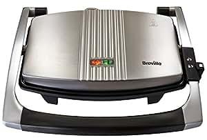 Breville VST025X Appareil à Sandwich pour 3 et Panini Acier