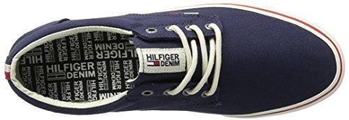 Tommy Hilfiger Herren V2385ic 1d Low-Top Blau (Ink 006)