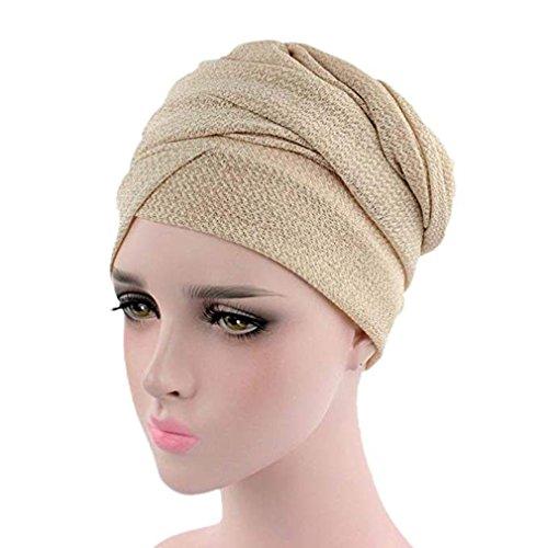 Ruimada Muslim Kopf Cap Kopftuch Frauen Muslim Stretch Turban Slouchy Krebs Chemo Hut Kopftuch Wrap Cap für Chemo Alopecia Haarausfall -