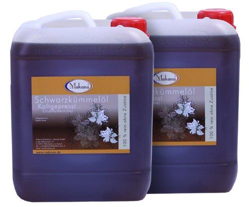 Makana Schwarzkümmelöl für Tiere, kaltgepresst, Kanister, 2er Pack (2 x 5 L)