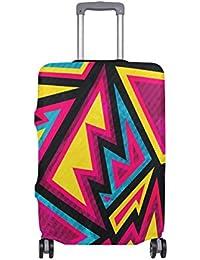 Preisvergleich für COOSUN Psychedelische Farbige geometrische Muster-Druck-Reise-Gepäck-Schutzabdeckungen Waschbar Spandex Gepäck...