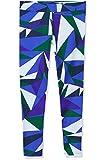 RED WAGON Mädchen Sport Leggings mit geometrischem Muster, Blau (Abstract Print Blue), 110 (Herstellergröße: 5 Jahre)