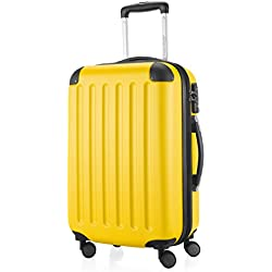 HAUPTSTADTKOFFER - Spree - Bagages Cabine à Main, Valise Rigide, Trolley, ABS, TSA, extra léger, extensible, 4 roues, 55 cm, 49 L, Jaune