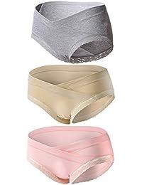 Topwhere 3 PCS Culottes En Coton Maternité Taille Basse Sous-Vêtements