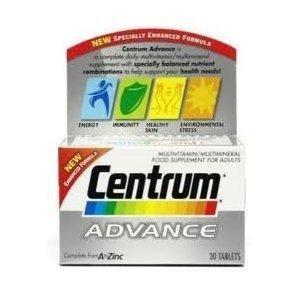 Centrum Advance MultiVitamin-30 Tablets by Centrum (English Manual)