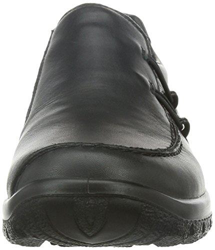 Rieker L7180, Scarpe chiuse donna Nero (Schwarz (schwarz/schwarz / 01))