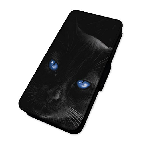 Beautiful Black Cat Eyes – Custodia ad aletta in pelle copertura di carta Apple Iphone 8