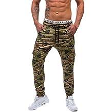 Homme Pantalon Cargo Motif Camouflage,Overdose Casual Vintage Jogging  Carotte Slim Sportwear bd3b72ee2399