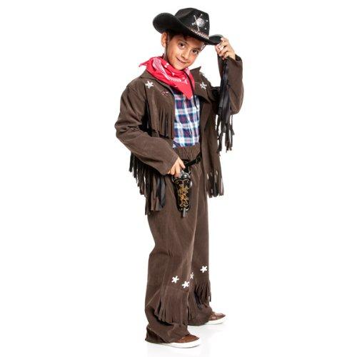 Kostümplanet® Cowboy Kostüm Kinder-Kostüm Junge Cowboykostüm Wild West Faschingskostüm Größe 140