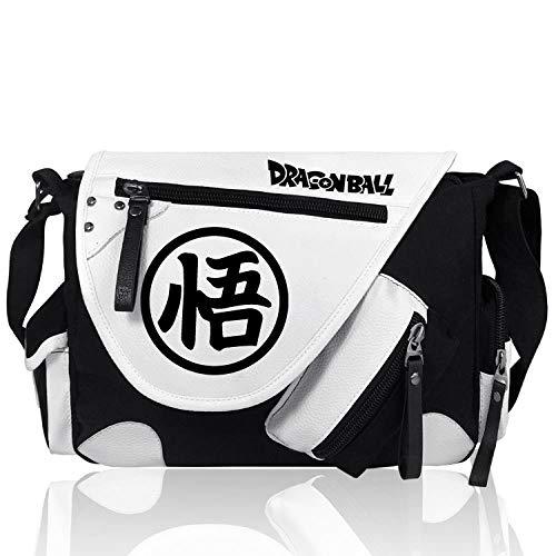 Messenger Bag Dragon Ball Son Goku Herren Anime Canvas Messenger Student Umhängetasche, B