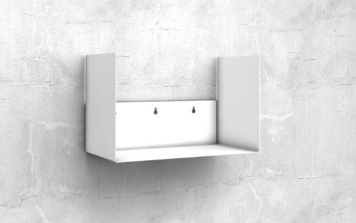 2 x Ordnerregal Bürorregal aus Metall in weiss für bis zu 28 Ordner