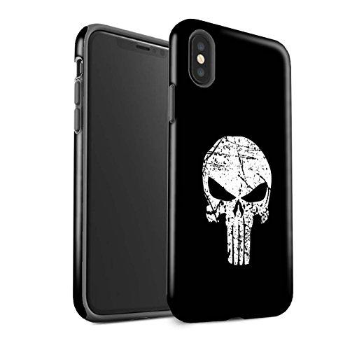 Stuff4 Coque Matte Robuste Antichoc de Coque pour Apple iPhone XS/Punisher Inspiré Design/Anti-Héros Bande Dessinée Collection