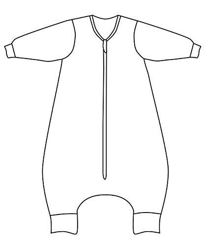Slumbersac sacchi nanna con piedini in tinta unita color verde menta - invernale 3.5 tog con maniche lunghe non rimovibili - 100 cm/24-36 mesi