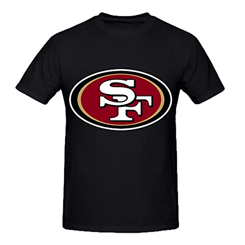 NFL San Francisco 49ers Team Logo Crew Neck Men Funny T-shirts X-Large