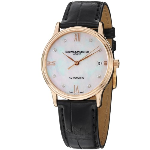 Baume and Mercier Classima Mother of Pearl Diamond Dial Ladies Watch M0A10077