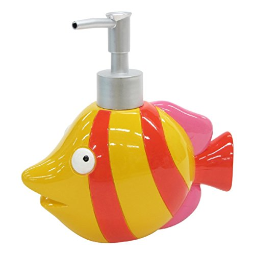 Allure Home Creation Fisch Tails Bad Ensemble, Polyresin, multi, Lotion Bottle