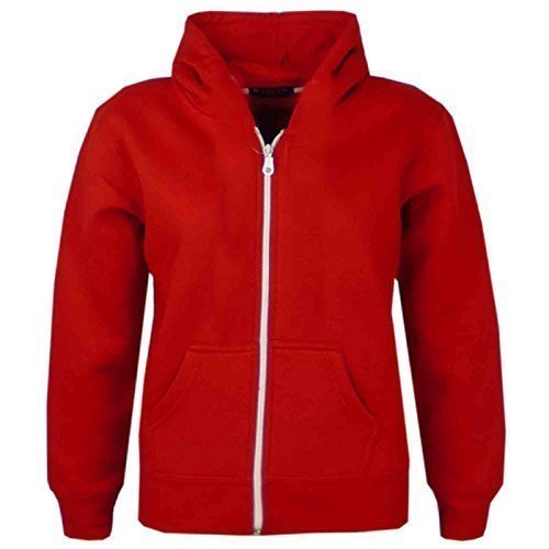 Kids Girls & Boys Unisex Plain Fleece Hoodie Zip Up Style Zipper Age 5 6 7 8 9 10 11 121 3 Years