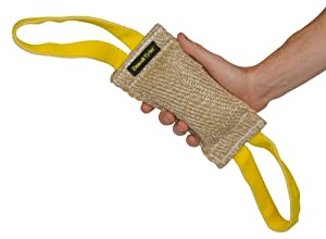 Bâton à mordre pour l'entraînement - Fabriqué en JUTE de qualité - Parfait pour l'entraînement - Taille S - 6 cm de large par 20 cm de long - 2 poignées à chaque extrémité - LES COULEURS PEUVENT VARIER !!! Disponible dans plusieurs tailles et matériaux. C