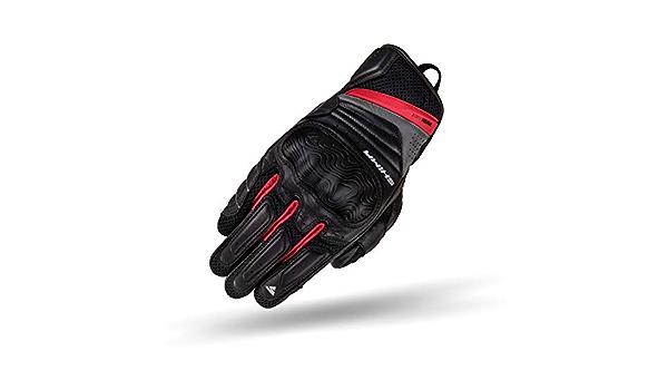 Shima Rush Gloves Men Red Leder Kurze Motorradhandschuhe Mit Protektoren Rot L Auto