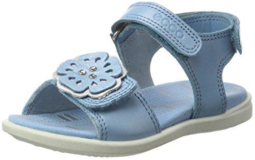 Ecco Mädchen Tilda Offene Sandalen mit Keilabsatz, Blau (50575SKY Blue/Silver Metallic), 28 EU