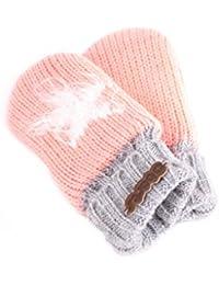 Barts Handschuhe Fäustlinge Strickfäustlinge rosa Fleecefutter warm GR. 0 151857008