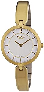 Boccia B3164-05 - Reloj de cuarzo para mujer, con correa de titanio, color dorado de Boccia