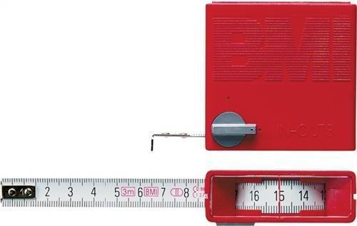 BMI 404341030 TaschenrollbandmaßIn/out Länge 3m Breite 13mm weiß mit Stopptaste