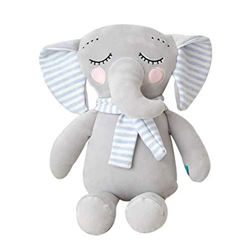 Tyoby Zierkissen Weich Umweltschutz Stofftier Spielzeug Heimtextilien,Baby Puppe Bettwäsche(Blau,30cm)