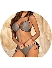 fef5e643d1e0 Sunonip Traje De Baño Push Up Bikini Set Mujer Tallas Grandes Traje De Baño  Malla Vendaje Traje De Baño Mujer…