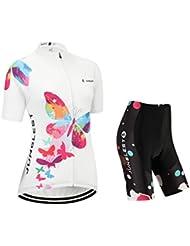 [Cojín 3D][traje tamaño:XL] rompevientos rendimiento mujer de ropa Jerseys chaleco transpirable manga corta los ciclismo para maillot