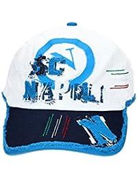 Cappello uomo NAPOLI ENZO CASTELLANO baseball con visiera bianco VL472 1eb64ff588e5