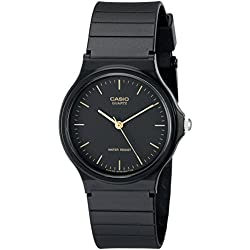 Casio Men's MQ24-1E Black Resin Quartz Watch with Black Dial