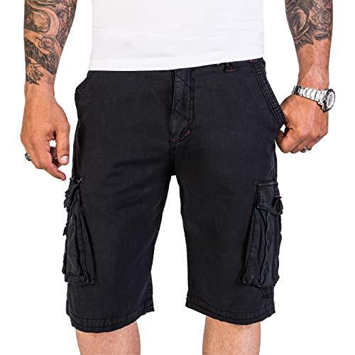 Rock Creek Herren Shorts Kurze Hose Bermuda Cargo Outdoor Herrenshorts Cargoshorts Schwarz Pants Männershorts Shorts mit Taschen H-193 Black M (Cargo-pocket Rock)