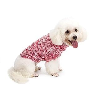Vetement Chien/Chat Angelof Pull A Tricoter Chiot Manteau De Chandail Chaud D'Hiver, Habits Jacket Manteaux Pour Petit Chien Laines
