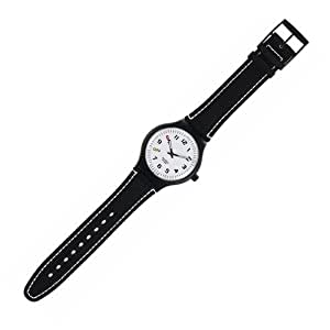 Swatch - STAB100 5 Days A Week (alarm) - Analogue - montre Homme - Bracelet en Cuir