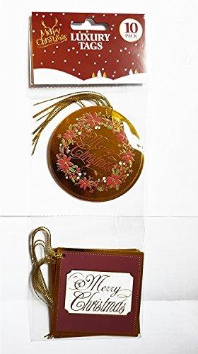 Weihnachtsgeschenk Tags/Weihnachtsbaum/Holiday/Frohe Weihnachten/Geschenke/Ornaments/Deko/Happy Holidays/Season 's Greetings/Winter/Kranz/Schnee/10Pack/Luxus Tags/Holly Blätter/strapazierfähig Papier Gewicht/Gold Quaste/weihnachtsgeschenk-marken/étiquettes de cadeau de Noël (Schnee-tage-shirt)