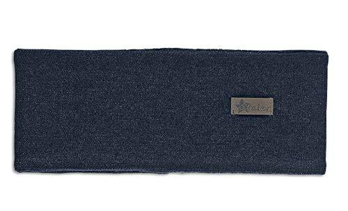 Sterntaler Stirnband für Jungen und Mädchen mit Leder-Aufnäher, Alter: 12-18 Monate, Größe: 49, Blau (Marine)