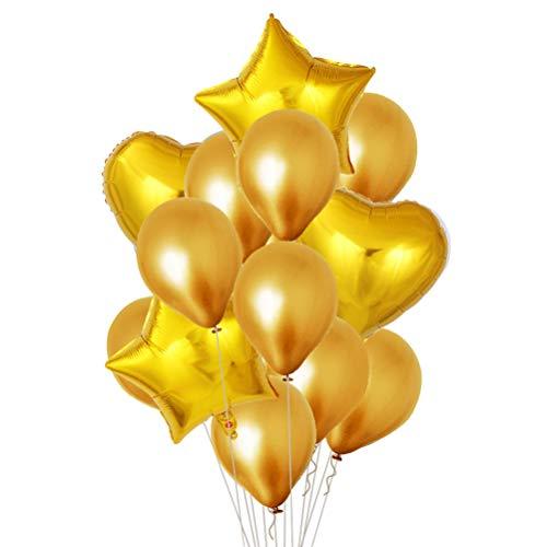 ballon Glänzende Gold Ballons Metallic Perlglanz Ballons Set für Party Supplies Dekorationen Hochzeit Raumdekoration Geburtstag ()