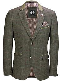 Xposed uomo vintage verde tweed a quadri 3 tuta giacca pantaloni gilet  articolo venduto come   59e449479a4