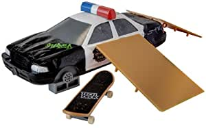 Tech Deck – Tony Hawk Shred FX – Rampe Voiture de Police + 1 Finger Skate (Import Royaume-Uni)