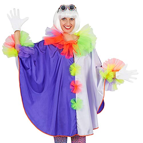 Andrea-Moden Clown Cape Poncho für Erwachsene - Zirkus Manege Kostüm Karneval Fasching Kindergeburtstag