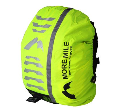 More Mile High Viz Water-Resistant Backpack Rucksack Bag Cover for Cycling or Running